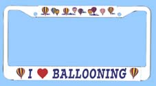 Hot Air Balloon License Plate Frame