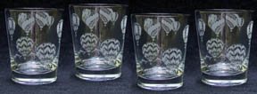 Etched Hot Air Balloon Glasses