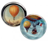 Painted Glass Hot Air Balloon Paperweights