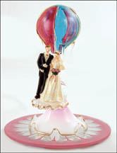 Hot Air Balloon Wedding Cake Topper