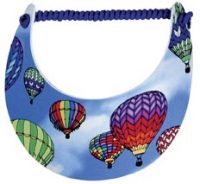 Rainbow Flight Hot Air Balloon Sun Visor