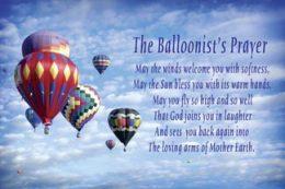 Balloonist's Prayer Card Set