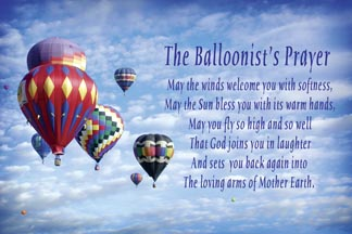 Hot Air Balloonist's Prayer Post Cards