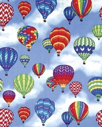 Rainbow Hot Air Balloon Fabric