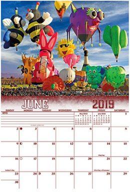 2019 Hot Air Ballooning Calendar