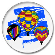 Color Splash Hot Air Balloon Decal