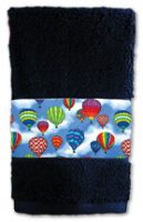 Rainbow Hot Air Balloon Towels, Navy