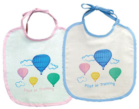 Hot Air Balloon Baby Bib