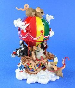 """Colorful Ride"" Hot Air Balloon Sculpture"