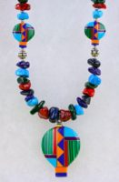 Southwestern Inlay Hot Air Balloon Necklace