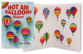 Rainbow Hot Air Balloon Stickers