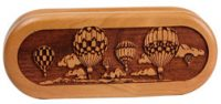 Hot Air Balloon Engraved Pocket Knife and Gift Box Set