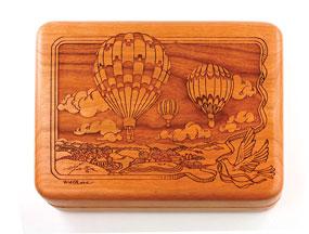 Wooden Hot Air Balloon Music Box