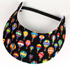 Black Fabric Hot Air Balloon Visor