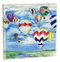 Crackle Finish Hot Air Balloon Wall Plaque