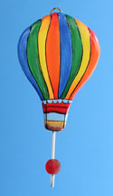 Rainbow Hot Air Balloon Wall Hook