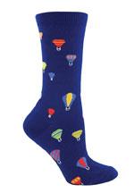 Multi Colored Hot Air Balloon Socks, Navy
