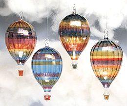 Artisan Glass Hot Air Balloon Sculpture