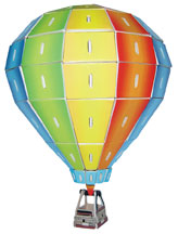 3 D Wooden Hot Air Balloon Model Kit