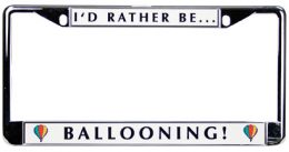 Hot Air Ballooning License Plate Frame