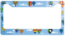 Cloud Chaser Hot Air Balloon License Plate Frame