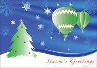 Winter Flight Hot Air Balloon Christmas Card Pack