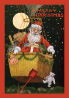 Santa's Journey Hot Air Balloon Christmas Card Pack