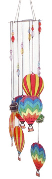 Rainbow Hot Air Balloon Chime