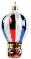 Old Glory Hot Air Balloon Glass Ornament