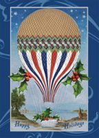 Holiday Greetings Hot Air Balloon Christmas Cards