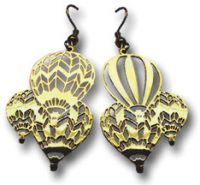 Mass Ascension Hot Air Balloon Earrings