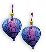 Zig Zag Niobium Hot Air Balloon Earrings
