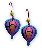 Niobium Hot Air Balloon Earrings