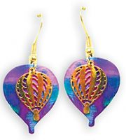 Niobium and Gold Plate Hot Air Balloon Earrings