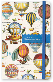 Vintage Hot Air Balloons Address Book