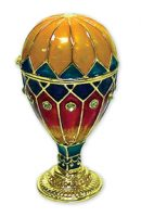 Pewter & Jeweled Shaped Hot Air Balloon Keepsake Box