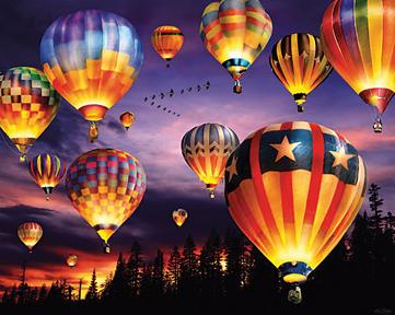 Hot Air Balloon Glow Puzzle