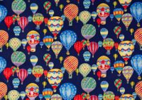 Fanciful Hot Air Balloon Fabric, Navy