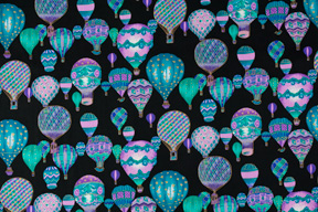 Hot Air Balloon Cotton Fabric