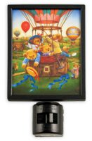 Teddy Bear's Balloon Ride Glass Night Light