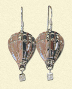 Die Cut Hot Air Balloon Earrings