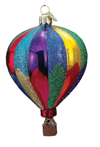 Glass Hot Air Balloon Ornament