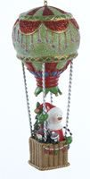 Soaring Snowman Resin Hot Air Balloon Ornament