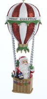 Soaring Santa Resin Hot Air Balloon Ornament