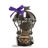 Hot Air Balloon Wine Cork Ornament Collectible