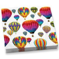 Hot Air Balloons In Flight Beverage Napkins