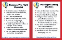Hot Air Balloon Passenger Briefing Cards, 20 pk
