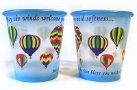 Colorful Reusable Plastic Hot Air Balloon Flight Cups