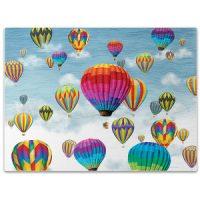 Hot Air Balloons In Flight Glass Cutting Board