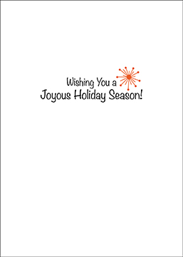 Joyous Holiday Hot Air Balloon Christmas Card